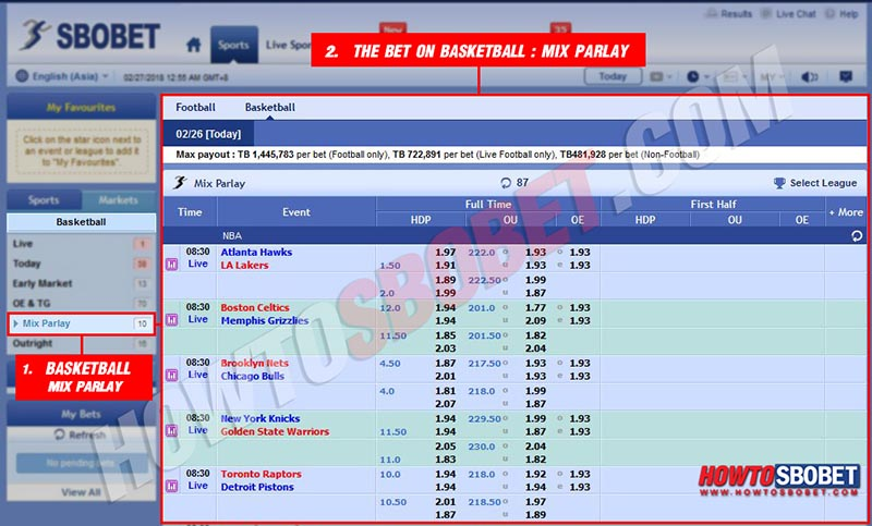 The bet on basketball : Mixparlay
